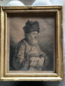 ancienne gravure XVIII ème siècle encadrement hirsch michel 1762 18ème Portrait