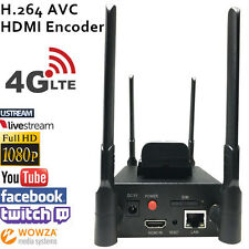 H.264 4G LET Wifi HDMI ENCODER Built-in 4G module for live broadcasting