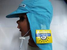 UV Schutz KU 44 45 46 47 48 49 50 Nackenschutz Sonne Kappe Cap Junge Baby blau