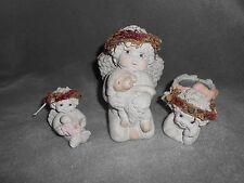 Dreamsicles Cherub Angel Figurines, Tea Lite Holder Lot Of 3