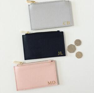 Personalised Ladies Coin Purse Card Wallet - Customised Elegant Stylish Design