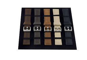 24-22-20mm Leder Uhrenarmband Uhrenband Uhrband Armband Vintage Look Lederband