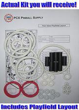 1992 Williams Fish Tales Pinball Machine Rubber Ring Kit