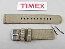 Timex Expedition neutral beige canvas watch band strap stitched 20mm lug + pins