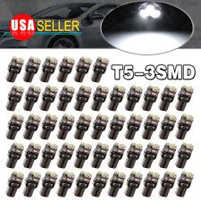 50x Super White T5 3SMD LED Instrument Panel DashBoard Dash Interior Light Bulbs