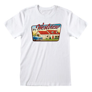 OFFICIAL MARVEL COMICS WANDAVISION WELCOME TO WESTVIEW SIGN PRINT WHITE T-SHIRT