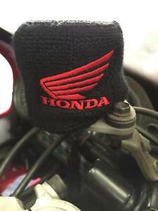 Red Honda Front Brake Master Cylinder Reservoir Cover Sock Shroud