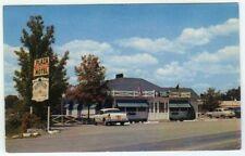 Ithaca New York SUNNYSIDE RESTAURANT 1950s Postcard Old Cars