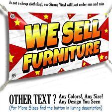 We Sell Furniture Advertising Vinyl Banner Sign Star Flag