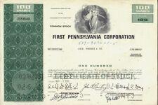 FIRST PENNSYLVANIA CORP PHILADELPHIA ( lateron CoreStates Wells Fargo Bank )