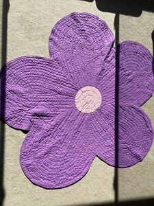 Purple Flower Pottery Barn Kids 6' Floor Covering Or Quilted Coverlet