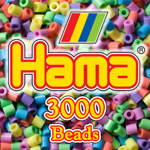 Hama Midi Beads Bags of 3000 5mm Ironing Craft Beads - All Colours Available