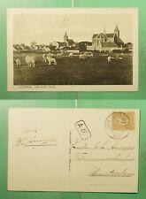 DR WHO 1923 NETHERLANDS DEN BURG TEXEL POSTCARD TO AMSTERDAM  g20776