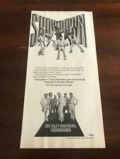 "1978 VINTAGE 5.5X11 ALBUM PROMO PRINT Ad FOR THE ISLEY BROTHERS ""SHOWDOWN"""