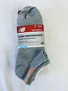 $20 New Balance Women's Medium Socks 6 Pairs Sz 6-10 Core Performance