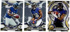 Baltimore Ravens 3-Card lot RC Refractor Die-Cut Allen / Perriman Non-Auto