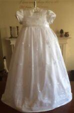 Vestidos de manga corta en blanco para niñas de 0 a 24 meses
