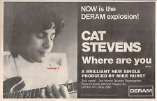 """CAT STEVENS Where Are You now 1969  UK Press ADVERT 12x8"""""""