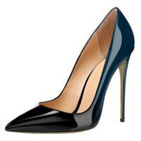 OL-Pumps Damen High Heels Stilettoabsatz Spitz Zehe Business-Schuhe 45 46 47 Neu
