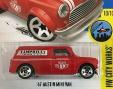 BAD CARD * '67 Austin Mini Van #175 * RED * 2016 Hot Wheels * NC23