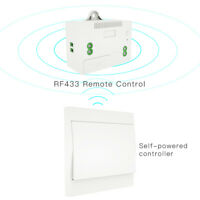 433MHz Wireless Remote Control Kinetic Self-powered No Battery Wall Light Switch