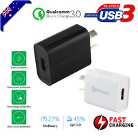 QC 3.0 Certified Fast Charging Wall Plug Charger Adapter Huawei Mate 20 30 Pro