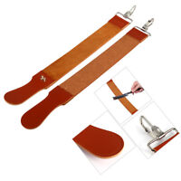 Leather Strop Strap Barber Straight Razor Folding Knife Shave Sharpener