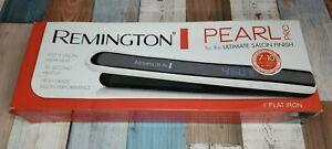 Remington S9500PP Pearl Pro Ceramic Flat Iron, 1-inch Black New Iron Damaged Box