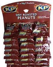 Pub Carded KP Dry Roasted Peanuts  21 x 50g Packets Nuts