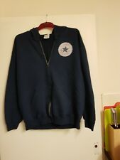 mens/unisex blue zipped hoodie size large by Gildan