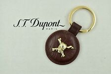 ST Dupont Pirates of the Caribbean Vintage Brown Leather & Gold Colored Key Ring