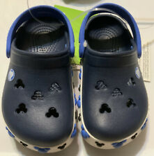 Mickey Mouse Disney Crocs Toddler Size c6/7 Navy Blue (NWT)kids Shoes