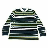 Club Room Mens Polo Shirt Rugby Green Blue Striped Variety Sizes