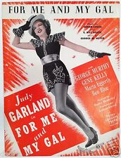 "1942 ""FOR ME AND MY GAL"" MOVIE SHEET MUSIC - JUDY GARLAND"