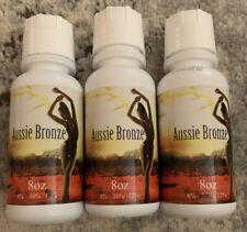 Lot of 3 Aussie Bronze Tampa Bay Airbrush Spray Tan Solution - New 8 oz bottles