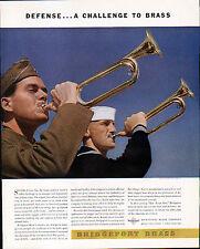 1942 BRIDGEPORT BRASS & GILBERT PAPERS  ADS-SPIRIT--  LEON DeVOS PHOTO