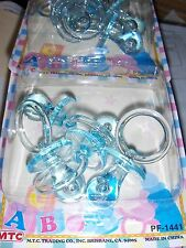 12 - 2 1/4 inch Blue Pacifiers Baby Shower Party Favors