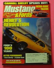 MUSTANG & FORDS  MAGAZINE JAN/2003...HENRY'S REVOLUTION: FORD'S 100 YEARS