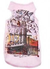 Designer Dog Shirt T-Shirt New York Street Scene Pink-Size 10