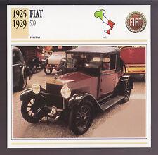 1925-1929 Fiat 509 Italy Car Photo Spec Sheet Info ATLAS CARD 1926 1927 1928