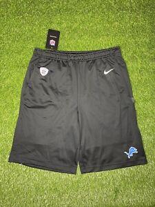Detroit Lions Nike Shorts Men's Black Dri-Fit NWT Size S AO3749-010 Training