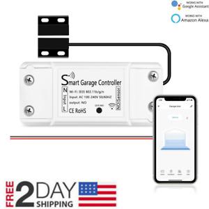 Smart Garage Controller WiFi Garage Door Opener with Alexa Google Home