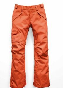The North Face Hyvent puffer lined Ski Snowboard Pants Women's Size M Orange