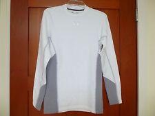 Men's Under Armour Coldgear Stretch Mock Soccer LS Shirt 1259975 White Large L