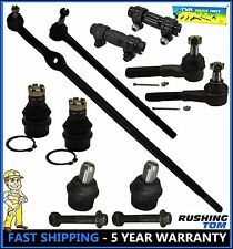 87-96 Ford F150 2WD RWD 10 Pc Kit Upper Lower Ball Joint Inner Outer Tie Rod End
