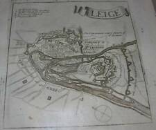 Leige Belgium 320 + year old map 1695 not copy 5-1/2 X 6 From Atlas Orignal
