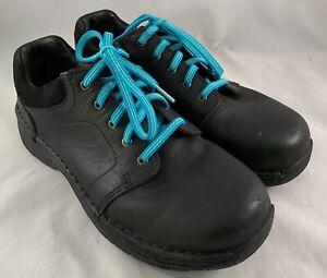 Red Wing Womens Steel Toe Black Oxford Shoe Sz 8 D Leather Slip Resistant 1623