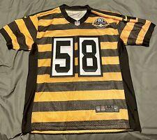 Steelers Nike Jack Lambert Custom Bumble Bee. Jersey Size 44