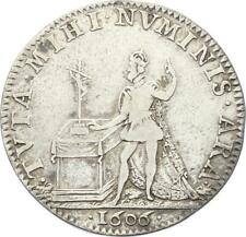 O3428 RARE R2 Jeton Henri IV Baptême Dauphin Louis XIII 1606 Argent
