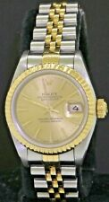 Rolex Datejust 69173 SS/18K gold automatic ladies watch S-Serial w/ box & papers